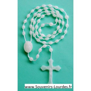 Rosenkranz Halskette fluoreszierende weiße Lourdes