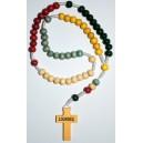 Rosario di Lourdes missionario di legno.