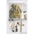 """Ematite rosario Ø6 con l'acqua di """"Lourdes"""""""