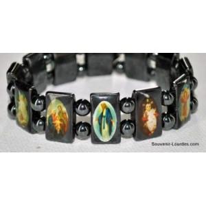 Lourdes-Armband aus schwarzem Hämatit