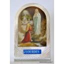 Médaille émail bleu avec eau de Lourdes