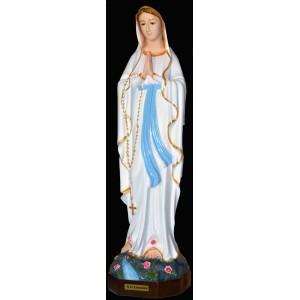 Madona di Lourdes di resina