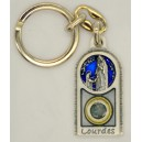 Porte clés avec eau Lourdes