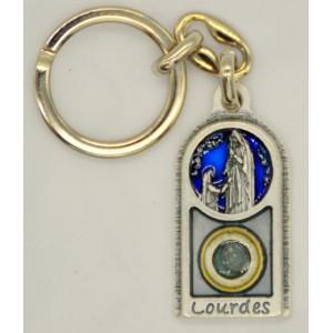 Keyring metal of of Lourdes water