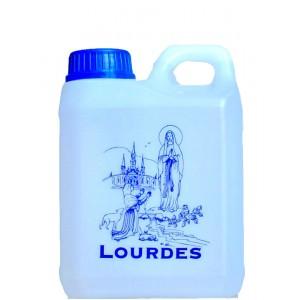 Bidon 1 litre d'eau de Lourdes
