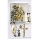 """Hematite rosary Ø6 with some water from """"Lourdes"""""""