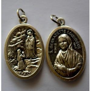 Médaille ovale de Lourdes